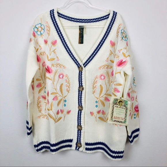 Anthropologie Sweaters - ARATTA Designer Tomboy Floral Sweater Cardigan NEW